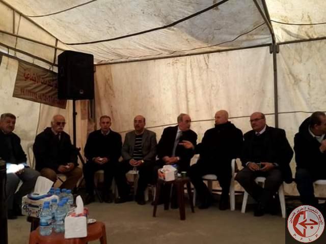 الجبهة الشعبية لتحرير فلسطين قدمت التعزية للوزير مراد بوفاة شقيق زوجته