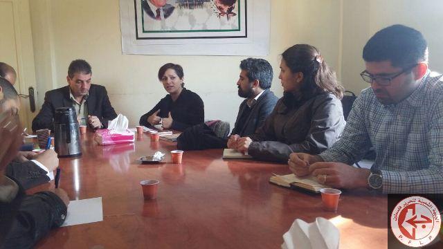 اجتماع اللجان الشعبية في مخيم عين الحلوة بمؤسسة UNDP