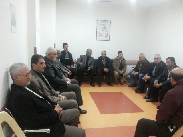 اللجان الشعبية الفلسطينية في صيدا قدمت واجب العزاء لحزب الله وزارت الترياقي في المستشفى