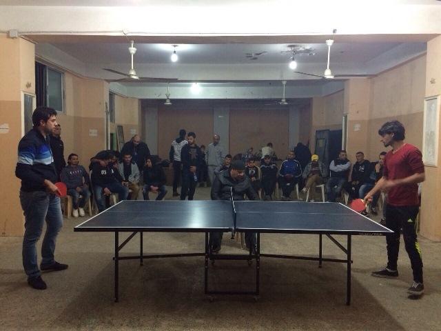 منظمة الشبيبة الفلسطينية تحيي ذكرى الحكيم ونبيل السعيد في البداوي بدورة في كرة الطاولة