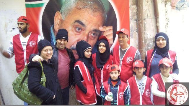 يوم تطوعي في مخيم شاتيلا