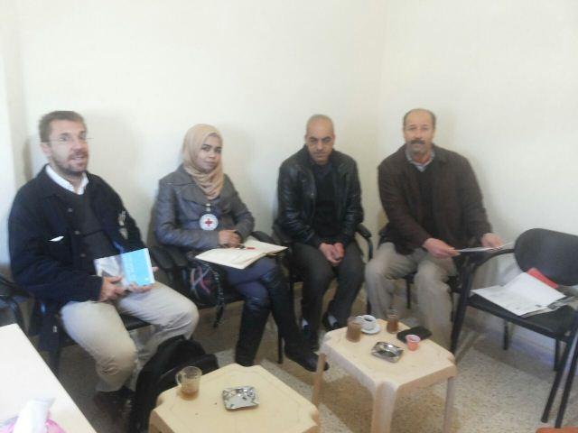أمين سر اللجنة الشعبية في مخيم عين الحلوة التقى وفد الصليب الأحمر