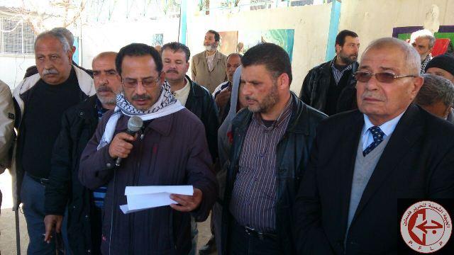 اعتصام شعبي أمام مكتب مدير خدمات الأنروا في مخيم نهر البارد