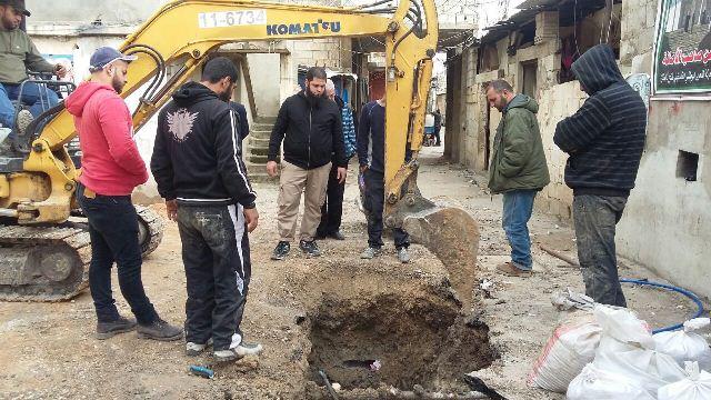 وفد من اللجنة الشعبية في مخيم عين الحلوة تفقد أعمال البنية التحتية