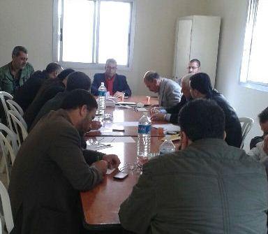 اجتماع لفصائل المقاومه واللجنة الشعبية وخلية الازمة في نهر البارد