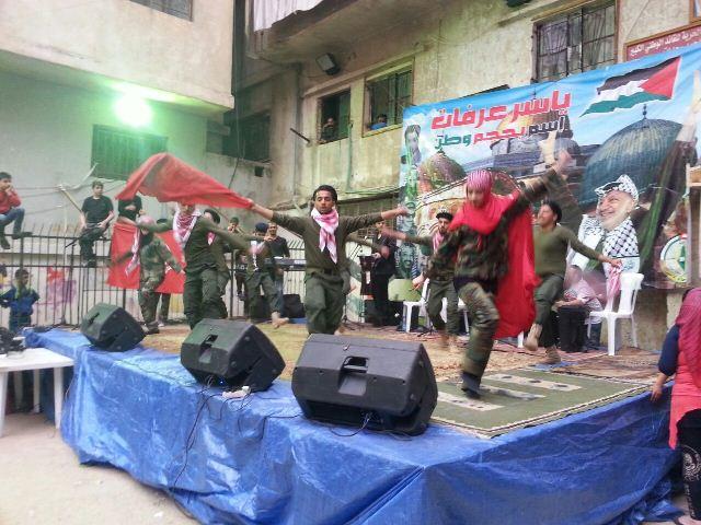 فرقة أجراس العودة شاركت في إحياء ذكرى يوم الأرض في شاتيلا