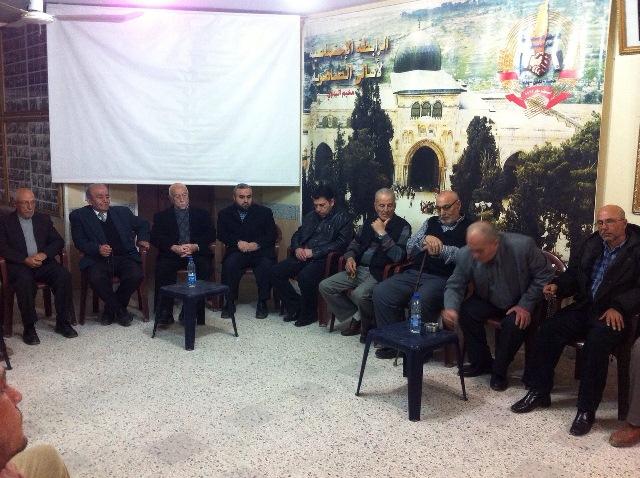 اللجنة الأمنية العليا لفصائل المقاومة ترعى مصالحة في البداوي