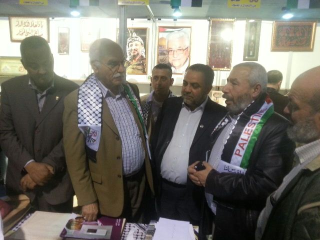 أمين سر حركة فتح اقليم لبنان زار جناح فلسطين في معرض رشيد كرامي