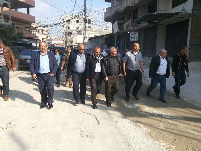 وفد حركة فتح اقليم قلقيلية زار مخيم البداوي