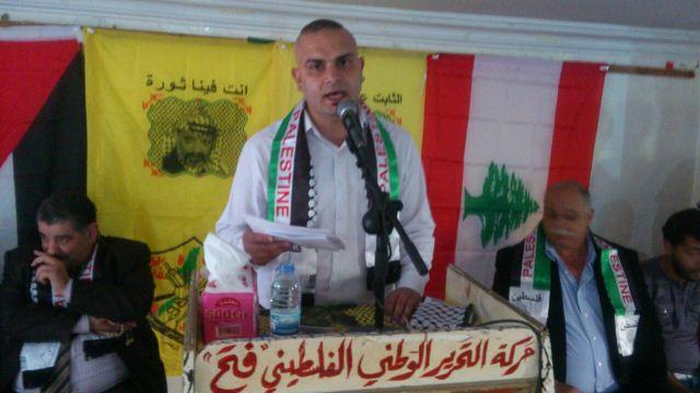 المكتب العمالي الحركي لفتح يقيم مهرجان في مخيم نهر البارد