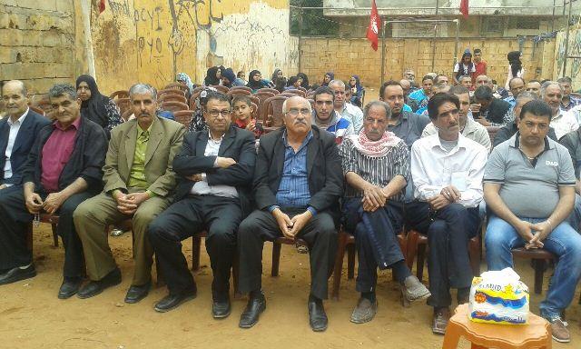 اللجان العمالية الشعبية الفلسطينية في مخيم نهر البارد احتفلت بعيد العمال