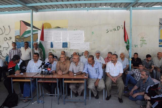 مؤتمر صحفي للفصائل الفلسطينية في مخيم البداوي