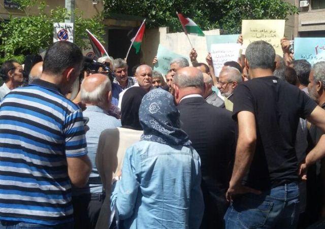 اعتصام أمام مكتب الأونروا في بيروت