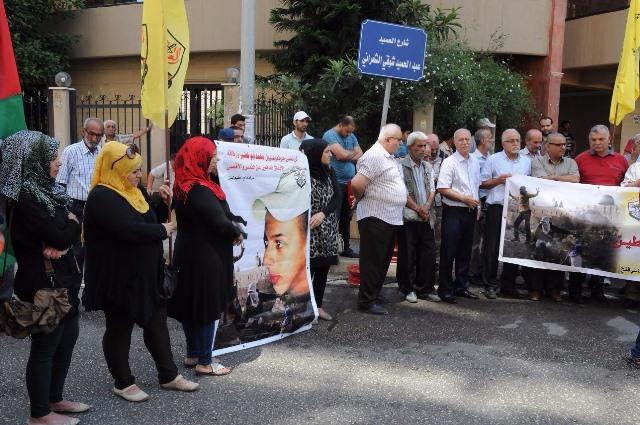 فتح في الشمال تعتصم احياءً لذكرى الشهيد محمد أبوخضير