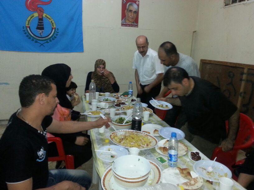 منظمة الشبيبة الفلسطينية والهلال الأخضر اللبناني يقيمان حفل افطار للأطفال في شاتيلا