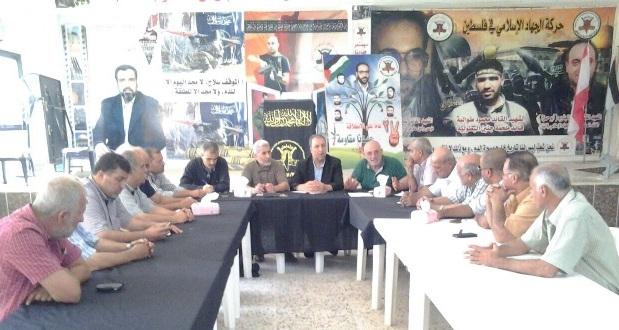 اجتماع للفصائل والأحزاب الفلسطينية في مخيم الرشيدية