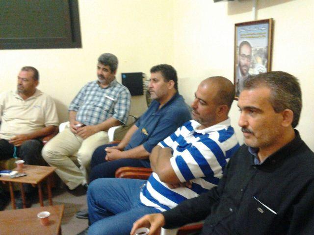 بيان صادر عن الفصائل الفلسطينية والقوى الاسلامية في منطقة صورحول اشكال الرشيدية
