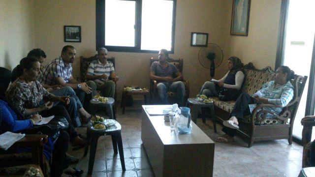 اجتماع في منطقة الشمال للمؤسسات العاملة في المجتمع الفلسطيني
