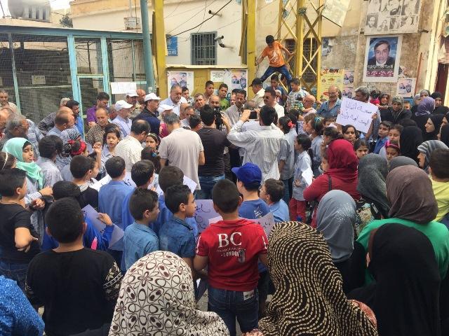 اعتصام حاشد أمام مكتب الأنروا في مخيم الجليل