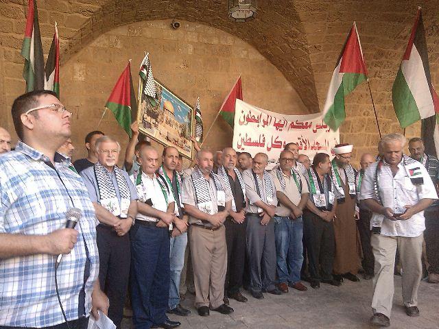 اعتصام تضامني مع الاقصى في مدينة طرابلس