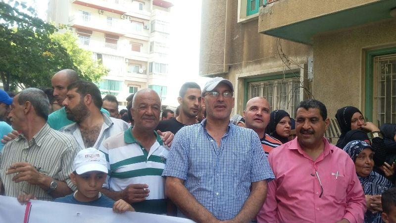 اعتصام أهالي مخيم نهر البارد أمام مكتب الأنروا في طرابلس