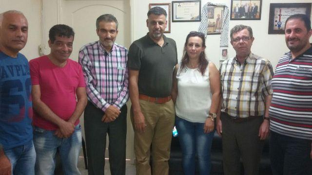 وفد من المكتب الإعلامي للجبهة الشعبية في لبنان زار د.عماد سعيد والأستاذ هيثم شعبان