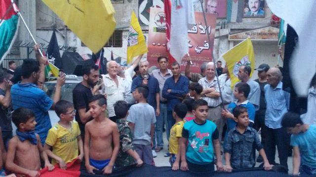مسيرات شعبية في مخيم شاتيلا دعماً لنضال الشعب الفلسطيني