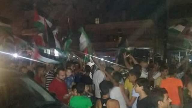 مسيرة جماهيرية حاشدة في مخيم نهر البارد