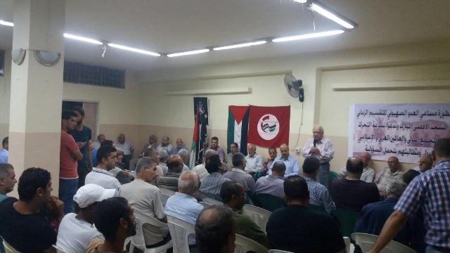 لقاء تضامني مع انتفاضة فلسطين في مخيم البداوي