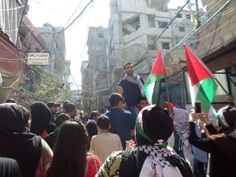 المخيمات الفلسطينية نتتفض دعما لانتفاضة شعبنا في فلسطين المُحْتلة