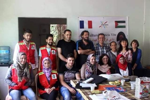 جمعية العودة للتواصل تستقبل وفد من جمعية فلسطين 18 الفرنسية