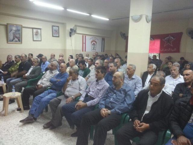 الديمقراطية في البداوي تؤبن قائدها في اليرموك