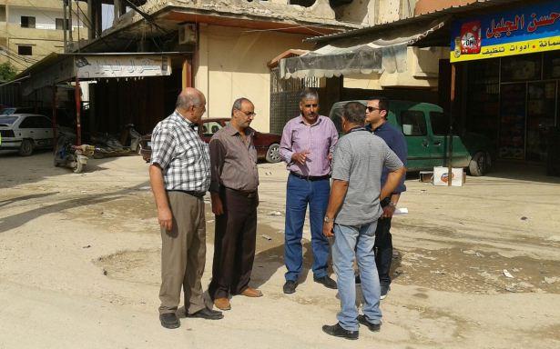 منظمة الـ UNDP واللجان الشعبية تسلم مشاريع للبنية التحتية في مخيم نهرالبارد للشركة المنفذة
