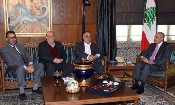 الرئيس بري يستقبل وفداً قيادياً من الجبهة الشعبية لتحرير فلسطين