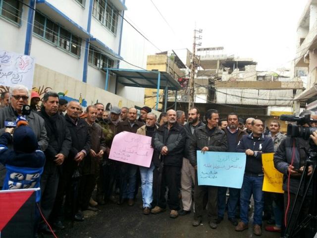 اعتصام في مخيم عين الحلوة احتجاجاً على تقليص خدمات الأنروا