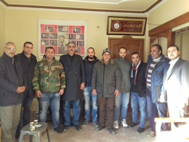 أمين سر اللجان الشعبية في منطقة الشمال استقبل وفدا من شباب مخيم البداوي
