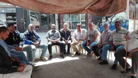 اعتصام فصائل المقاومة واللجان الشعبية الفلسطينية في الشمال في خيمة الاعتصام.