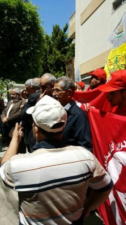 اعتصام تضامني أمام مقر الصليب الأحمر الدولي في بيروت.