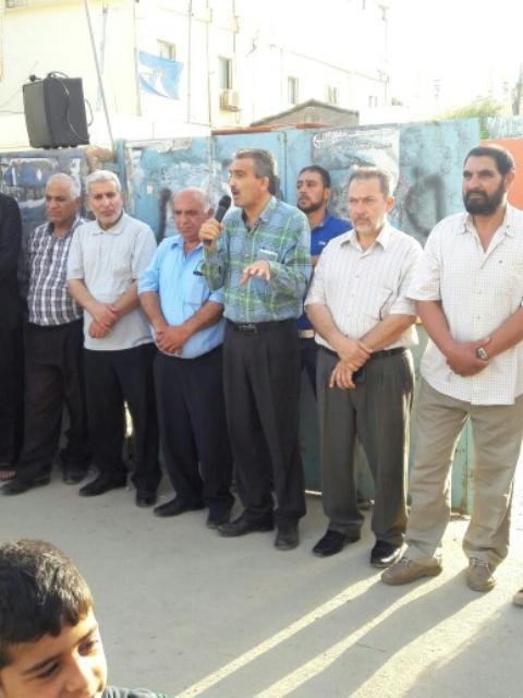 وقفة تضامنية في مخيم الرشيدية مع الأسير القائد بلال كايد و الأسرى الأبطال في زنازين الاحتلال .