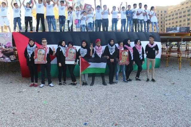 يوم تضامنيٌّ مع الأسرى المضربين عن الطّعام في سوق بيروت الشّعبي