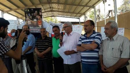 اعتصام تضامني مع الأسرى في منطقة صيدا