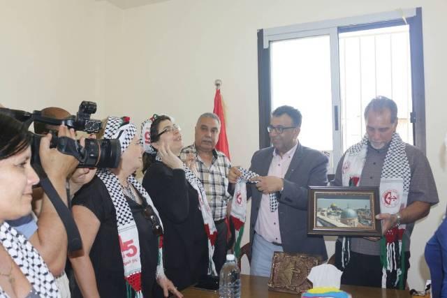 وفد كوبي يزور مكتب الجبهة الشعبية لتحرير فلسطين