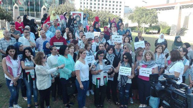 وقفة تضامنية للاتحاد النسائي التقدمي أمام الاسكوا مع جرار والسعافين المعتقلتين في سجون الاحتلال