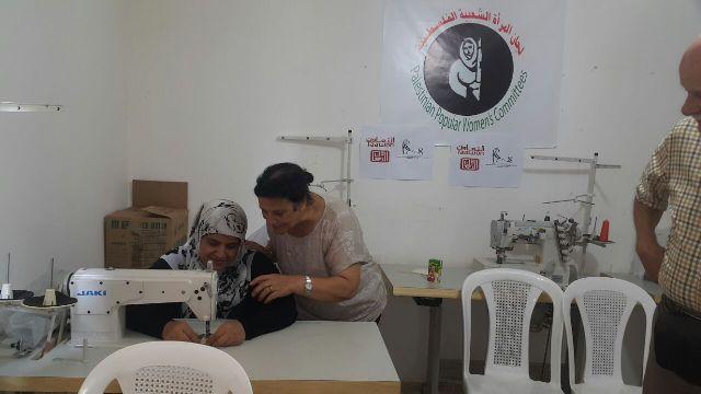 افتتاح دورات خياطة في مخيم شاتيلا