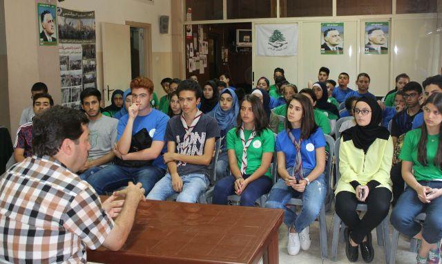 محاضرة لاتحاد الشباب الوطني عن جمال عبد الناصر في طرابلس