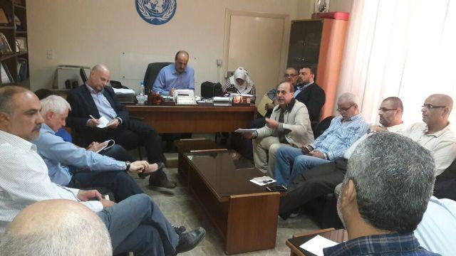 لقاء لجنة الملف الميدانية وفصائل المقاومة والحراكات مع المدير العام للأونروا