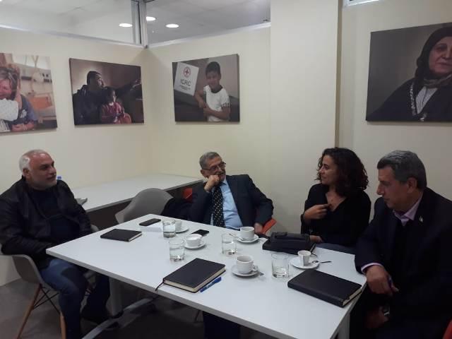لجنة الأسرى والمحررين للجبهة في لبنان تزور اللجنة الدولية للصليب الأحمر في بيروت