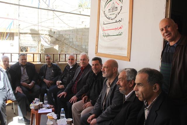 فصائل م.ت.ف في منطقة صيدا تلتقي الجبهة العربية الفلسطينية بمخيم المية والمية