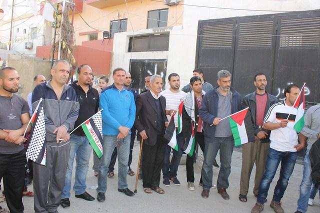 اعتصام تضامني في صور مع مخيم اليرموك