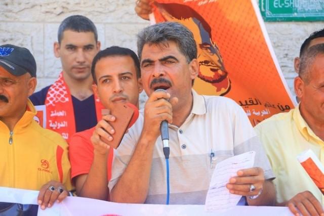 لجنة الأسرى للجبهة تنظم وقفة داعمة ومساندة مع الأسير بلال كايد بغزة